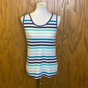 Lands' End Sleeveless Striped Top